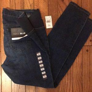 Indigo Blue Motherhood Maternity Distressed Jeans